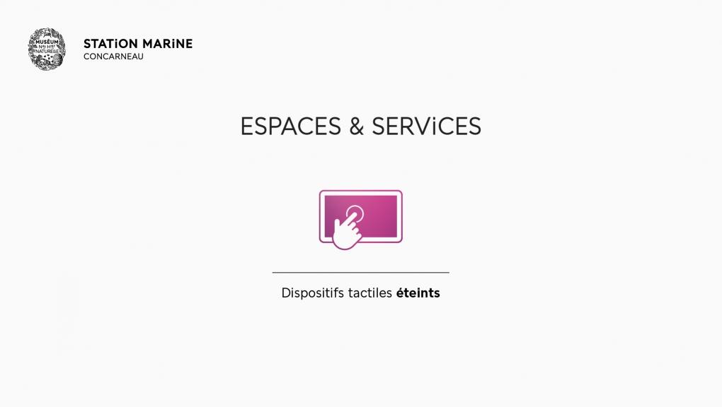 Déconfinement : espaces et services - Station Marine de Concarneau