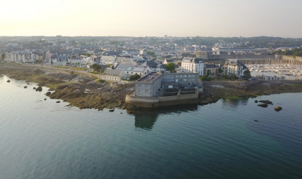 Concarneau Marine Station aerial view from the port © MNHN - Stéphane Formosa